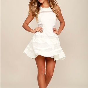 Ivory skater dress with cut out back